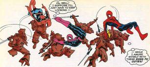 Spiderman combate