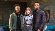 Chadwick Boseman Sits Down with Marvel's Cloak & Dagger's Aubrey Joseph & Olivia Holt (Part 1)