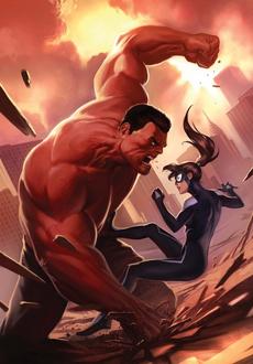 Anya vs Red Hulk