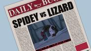 Spidey vs Lizard - Portada del Daily Bugle - Natural Selection