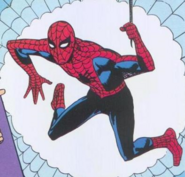 Peter's debut as Spider-Man