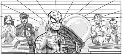 SM4 Arte conceptual de Spider-Man