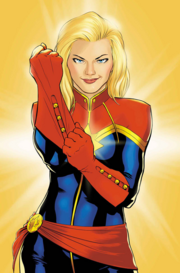 Carol como Captain Marvel