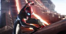 Iron Spider en la Nave-Q - Avengers Infinity War