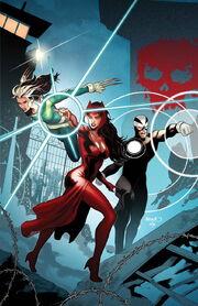 The Uncanny Avengers escape from Genosha