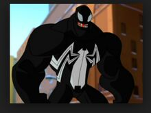 Venom as he appears in the Spectacular Spider-Man.