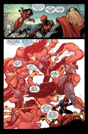 Spider-Man defeating spider-woman