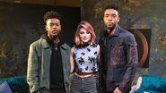 Chadwick Boseman Sits Down with Marvel's Cloak & Dagger's Aubrey Joseph & Olivia Holt (Part 2)