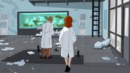 Los Connors regresan al laboratorio que ahora esta destrozado - Interactions