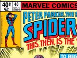 Peter Parker, The Spectacular Spider-Man Vol 1 40