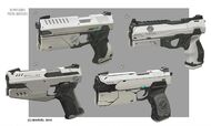 Silver Sable's pistol from MSM concept art