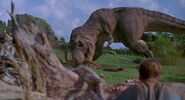 Rexy killing Gallimimus