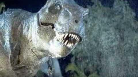 Jurassic park t-rex roars