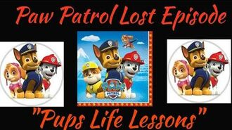 "Paw Patrol Lost Episode ""Pup's Life Lessons"""
