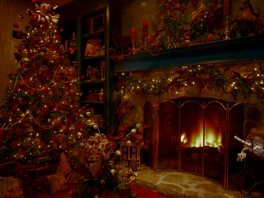 Image - Christmas-Tree-Fireplace-1024-127315.jpg | Spinpasta Wiki ...