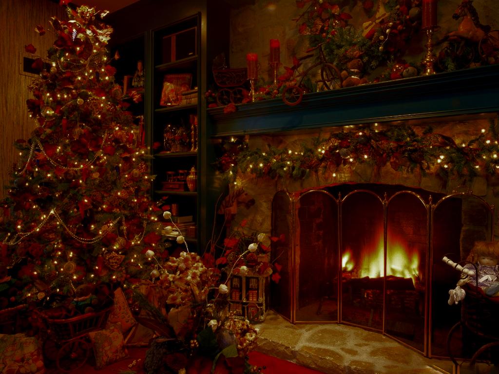 christmas tree fireplace 1024 127315jpg
