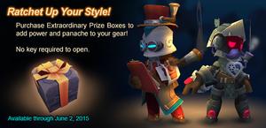 Extraordinary Prize Box ad