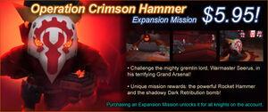 Operation Crimson Hammer ad