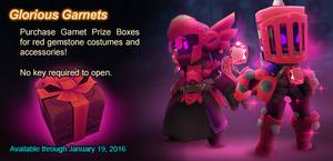 Garnet Prize Box ad