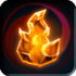 Glowing Fire Crystal