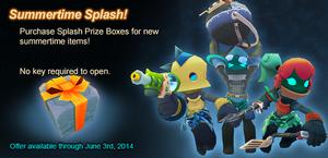 Splash Prize Box ad