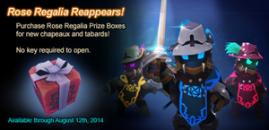 Rose Regalia Returns Prize Box