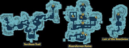 Gloaming Wildwoods map