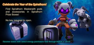 Spiralhorn Prize Box ad