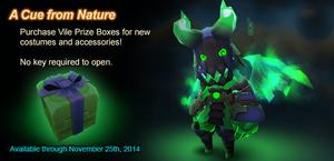 Vile Prize Box ad