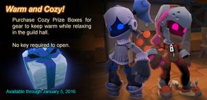 Cozy Prize Box ad