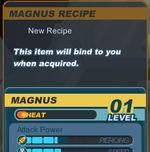 Recipe Info in Shop