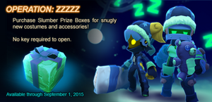 Slumber Prize Box ad