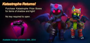 Katastrophe Returns Prize Box ad