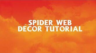 Spider Web Decor Tutorial - Spirit Halloween
