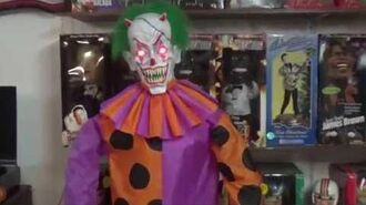 "Gemmy Halloween Animated Life-Size 6ft ""Psychotic Clown"" (UNRELEASED PROTOTYPE) Spirit Halloween"