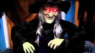 "5ft (Life Size) ANIMATED TALKING WITCH WITH CAULDRON ""Witches Brew"" Halloween Party Prop Decoration"