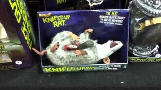 Spirit Halloween 2012 YJ Knifed Up Rat