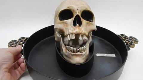 Animated Skeleton Gemmy Talk Candy Dish Bowl Motion ...