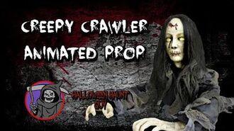 Gemmy Creepy crawler girl animated prop