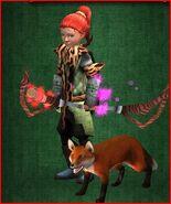 Hero with fox