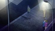 Keika walking home alone