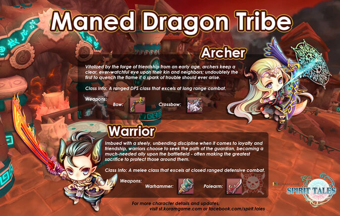 Maned dragon tribe