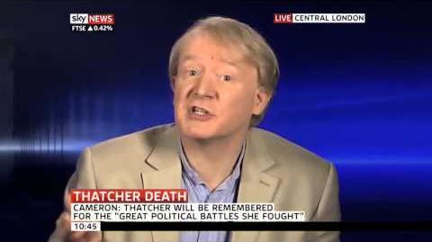 Spitting Image voice actor on Margaret Thatcher (09Apr13)