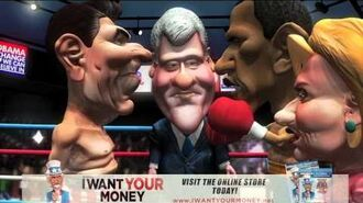 Reagan and Obama Face-off in the Ring - I Want Your Money Movie Clip