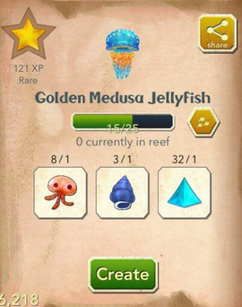 Golden Medusa Jellyfish§Aquapedia