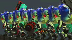 Sanitized octolings with weapons