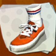 Shoes Orange Lo-Tops