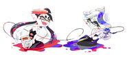 Red vs Blue Callie and Marie