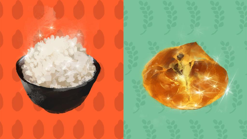 Image result for rice or bread