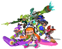Splatoon-Artwork-di-gruppo-Inkling